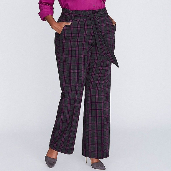 93c5a76f0ef Lane Bryant Pants - Lane Bryant The Lena Plaid Trousers